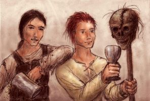 Drinking with a Ghoul's head by Zmok