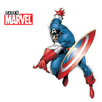 [Marvel Paper] Capitan America by TeamNeko