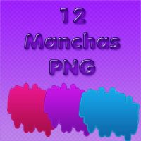 12 Manchas PNG by Biancaaeditions