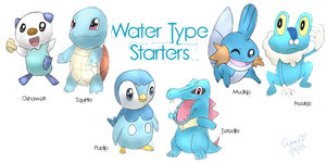 Water Type Starters by PrincessPyrefly