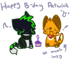 tiz ur late birthday phee phee by Freckled-Kat
