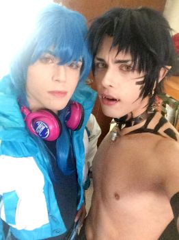 Aoba and Ren Cosplay - Dramatical Murder by hakucosplay