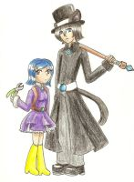 Coraline and Cat at the Ready by hopelessromantic721