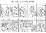 OL: 10 ways of flirting meme by Fortranica