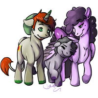 .:CO:. Pony Family Photograph by LeoPacus