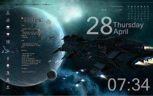 Rainmeter - Space Theme by Athox