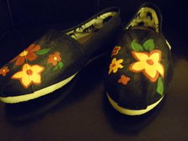 Flower Shoes by MaryGracee