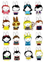 Generation Miffy- Disney years by likimonster