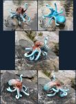 Handmade octopus keychain commission by SculptedCreations