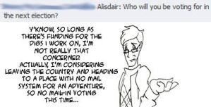 Questions: Alisdair by applescruff