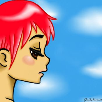 Ruby. Paint tool SAI 1st attempt by Animelia-Love