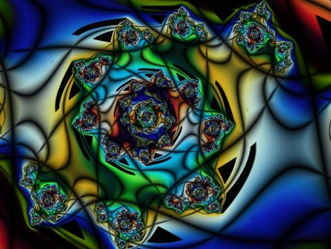 Stained-Glass Beyblade 2 by elemental-fire