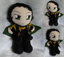 Commission+Art Trade, Mini Plushie Loki by LadyoftheSeireitei