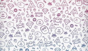Free - Wallpaper - Super Sweet Monsters by mrsbadbugs