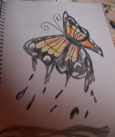 Melting Butterfly Drawing by smileymileysworld