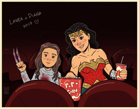 Laura Kinney and Diana Prince by MekareMadness