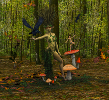 The Dryad by Just-A-Little-Knotty