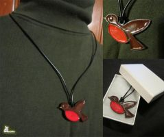 Commission - Femme 'Robin the Boy Wonder' Necklace by SnowBunnyStudios