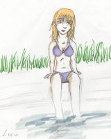 Lucia - By the pool by Kryru