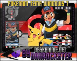 Ash Ketchum Theme Windows 7 by Danrockster
