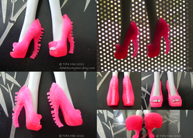 Monster High Shoes - Hot Pink by TifaTofu
