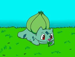 Happy Bulbasaur by PhantomDP