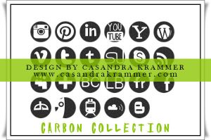 Carbon Collection Social Media Icons by MsCassyK-Stocks