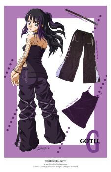 Fashion Girl - Goth by LCibos
