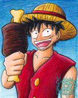 One Piece Luffy by ninjatron