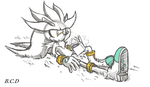 Silver the hedgehog ( quick sketch ) by bayocand