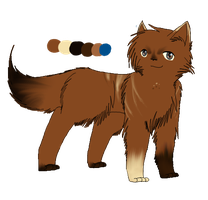 Black Leaves- Bramblepaw Ref. by Amerikat