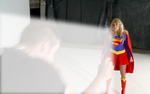 Supergirl blows by Superbreath