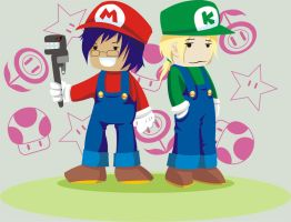 M and K - Mario Style by Marzone