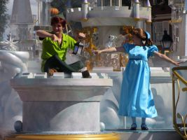 Peter Pan and Wendy by GarnetTribal0