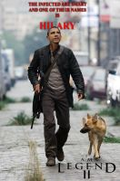 Obama As I am Legend by carlosnumbertwo
