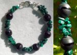 Bracelet: Malachite and Onyx by LissaMonster
