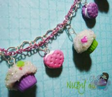Cupcakes n Cookies - bracelet by colourful-blossom