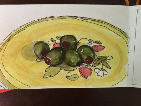 Olives on a plate by lalynn23