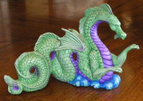 ceramic sea dragon by chickengirl90