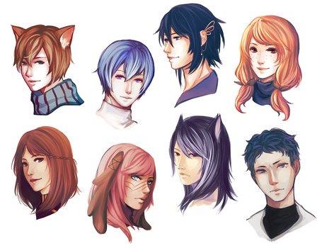 FC: so many floating heads by blanket-walrus