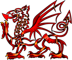 Celtic Knot Welsh Dragon by KnotYourWorld
