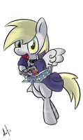 Derpy can duel to![No background] by LionelBrony