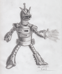 Pencil Anime Bender. by simpspin