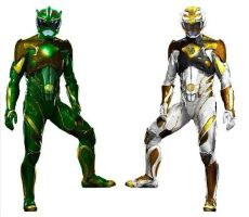 Green and White 2017 Movie Rangers by Greencosmos80