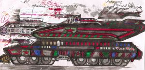 Soviet Heavy Tesla Tank by Lord-DracoDraconis