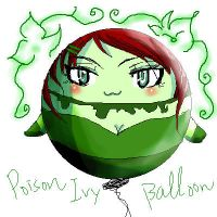 Poison Ivy Balloon by skylord1015