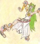 Palutena tickled by eyeball monsters by kingofthedededes73
