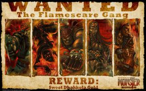 Flamescare Wanted by cruzarte