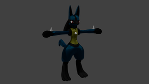 WIP 4.1 Lucario by PhiliChez