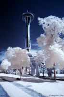 Space Needle IR by vazagothic